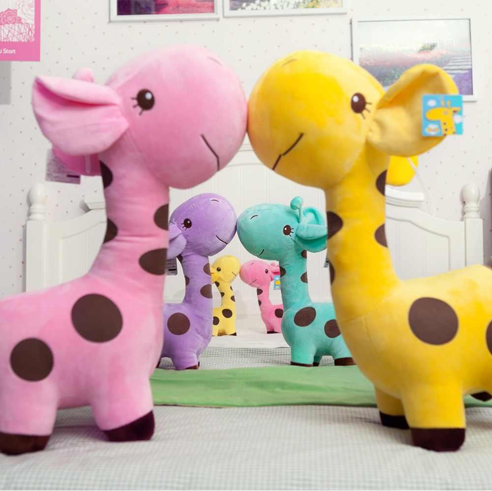 18 cm/25 centímetros Bonito Girafa de Brinquedo de Pelúcia Pingente de Veados Animais Dos Desenhos Animados Boneca de Pelúcia Macia Do Bebê Brinquedos de Natal Dos Miúdos presentes de aniversário Colorido