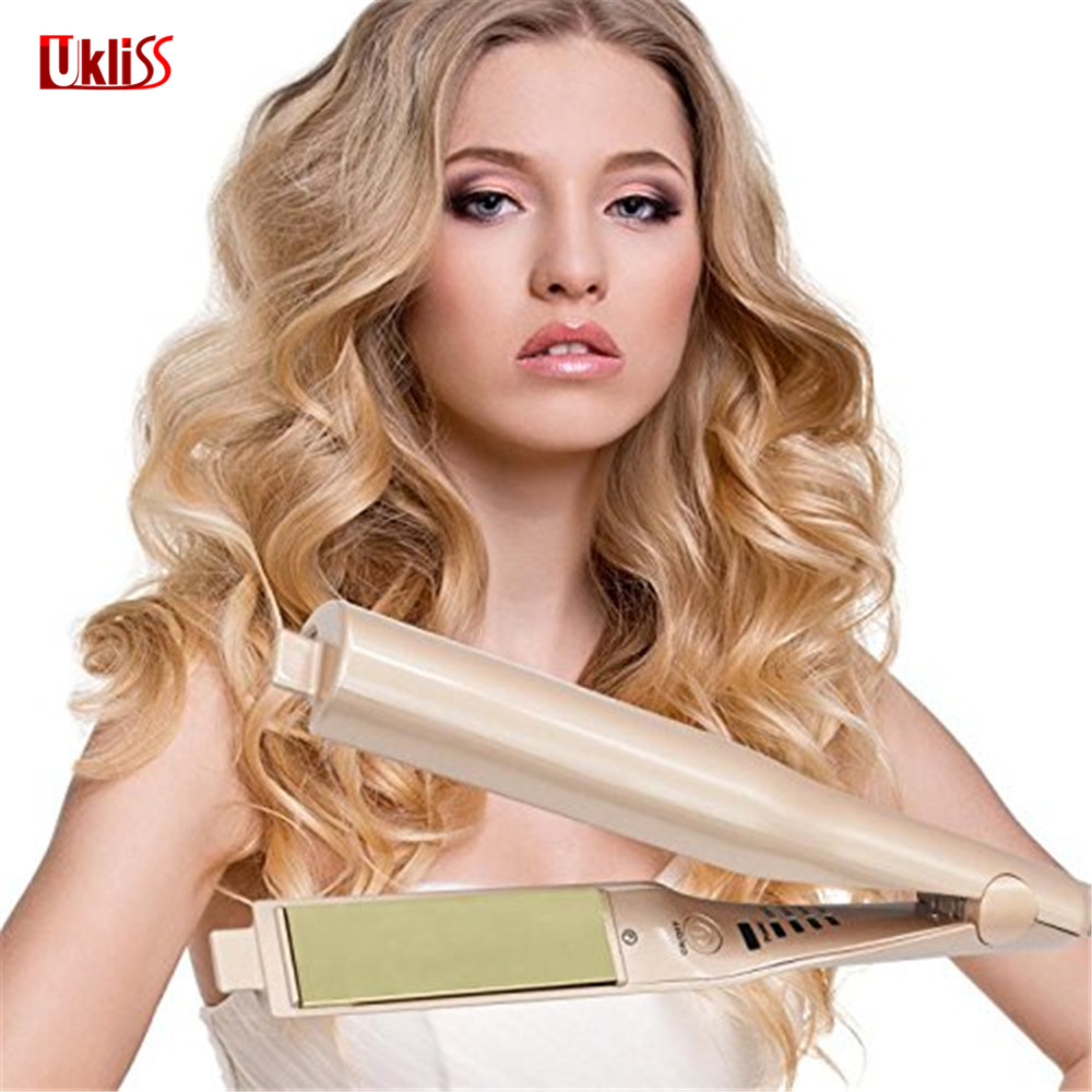 2018 Hair Straightener 2 in 1 Straightening Irons Curling Wand  Hair Care Styling Tools Hair Accessories for Girl braun satin hair 7 iontec straightener st730 hair care styling tools curling straightening irons professional roller 100 240v