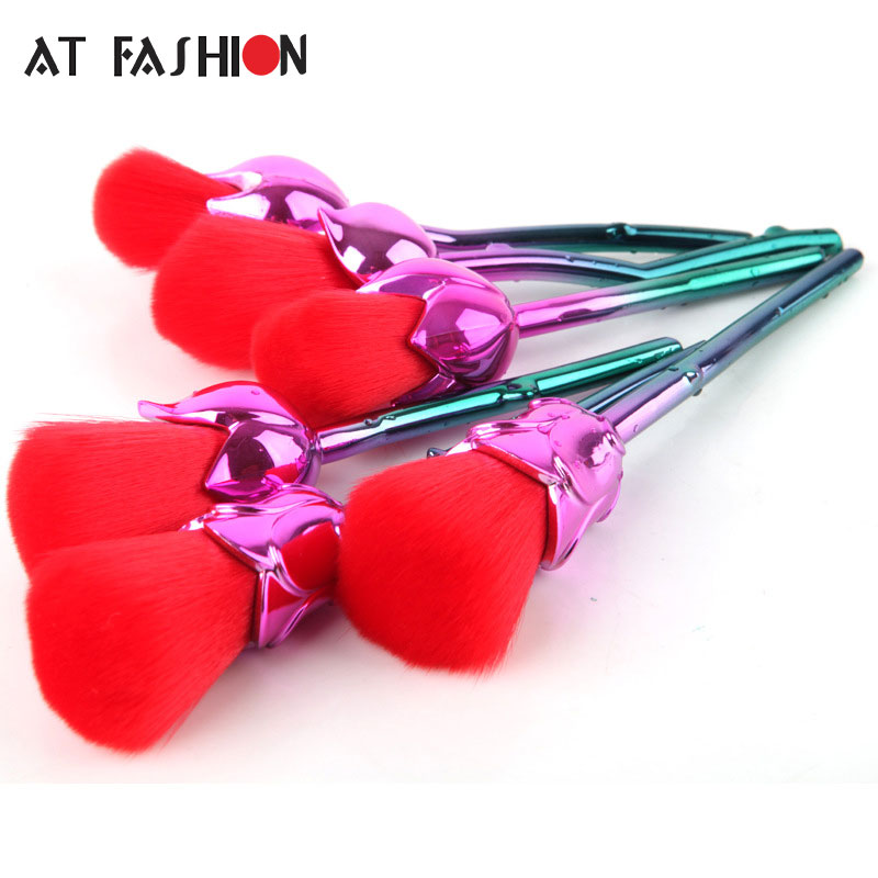 New 6pcs Rose Shaped Makeup Brushes Foundation Powder Professional Make Up Brushes Blush Brush Set Pincel Maquiagem hot sale 6pcs set gold rose shaped makeup brushes foundation powder make up brushes blush brush set pincel maquiagem