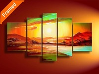 Canvas art painting natural sunrise oil painting decoration landscape wall pictures for living room reproduction artwork