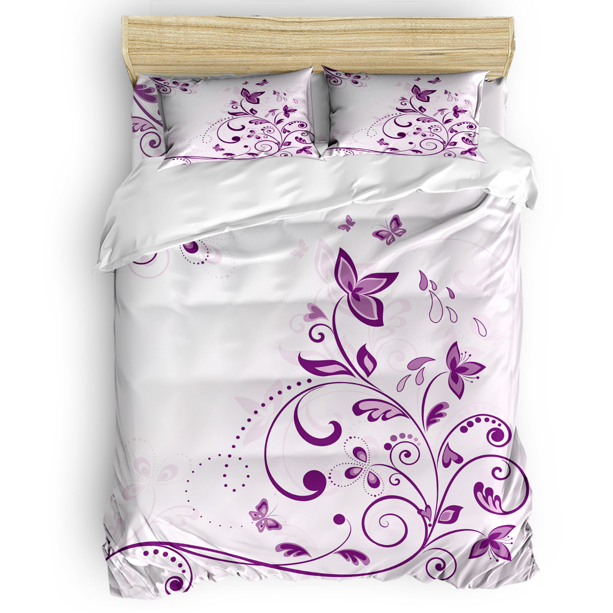 Violet Butterfly Abraham Birthday Duvet Cover Sets Comforter Sets Memorial Day Microfiber Toddler Daybed Womens Bedding Sets Aliexpress