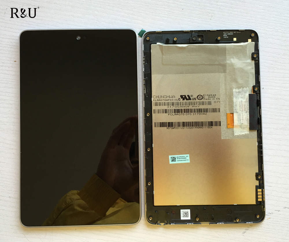 R&U LCD display+Touch Digitizer Screen assembly with frame for ASUS Google Nexus 7 nexus7 2012 ME370TG nexus7c 3G version