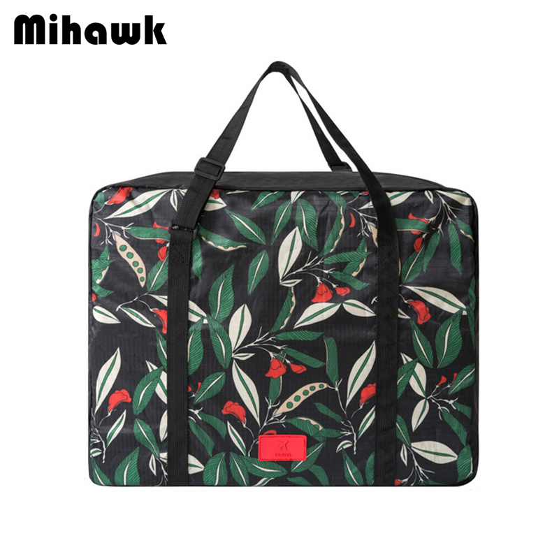 Mihawk Big Travel Bags Foldable Carry-on Duffle Bag Organizer Clothes Underwear Toiletry Storage Luggage Accessories Supplies