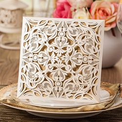 1kit laser cut wedding invitations cards kit square lace engagement for marriage anniversary birthday paper cardstock.jpg 250x250