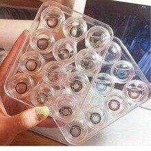 1 пара контактные линзы Чехол держатель портативный маленький прекрасный прозрачный коробка для очков контейнер Контактные линзы Контейнер для контактных линз чехол