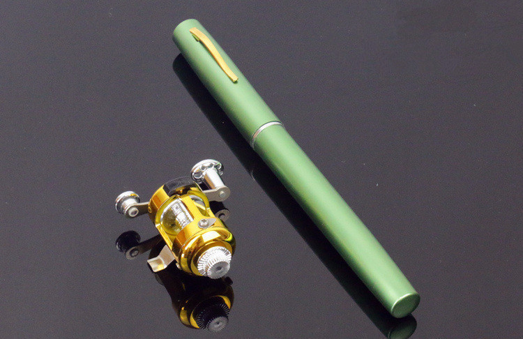 Foldable Pocket Telescopic Fishing Rod in Pole Pen Shape for River and Lake Fishing with Reel Wheel 5