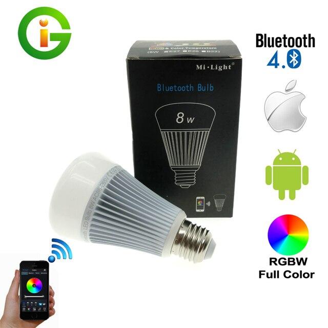 Mi. light bluetooth 4.0 bulb 8 w e27 ac85-265v full color luz led inteligente com ios android app controle.