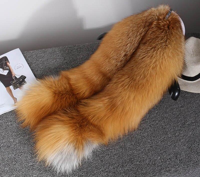 fox skin scarf big fox fur scarf (14)
