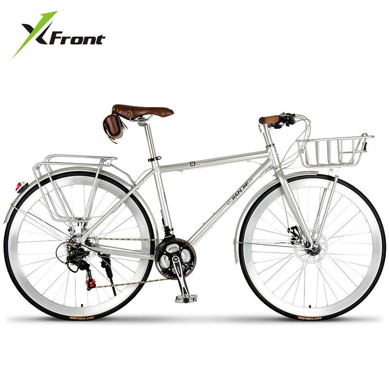 New Brand Aluminum Alloy Frame Retro bike 24/27/30 Speed Dual Disc Brake Street Bicycle Outdoor Bicicleta