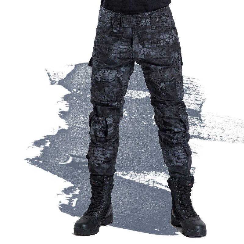 Military Camo Pants Men SWAT Tactical Combat Paintball Cargo Pants Army Soldier Train Multi Pocket Camouflage Uniform Trousers