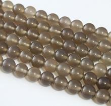 Baihande Natural Grey Agate Stone 4 6 8 10 12mm A Class 15inch Round Onyx Gemstone Loose Beads For Bracelet DIY Jewelry Making
