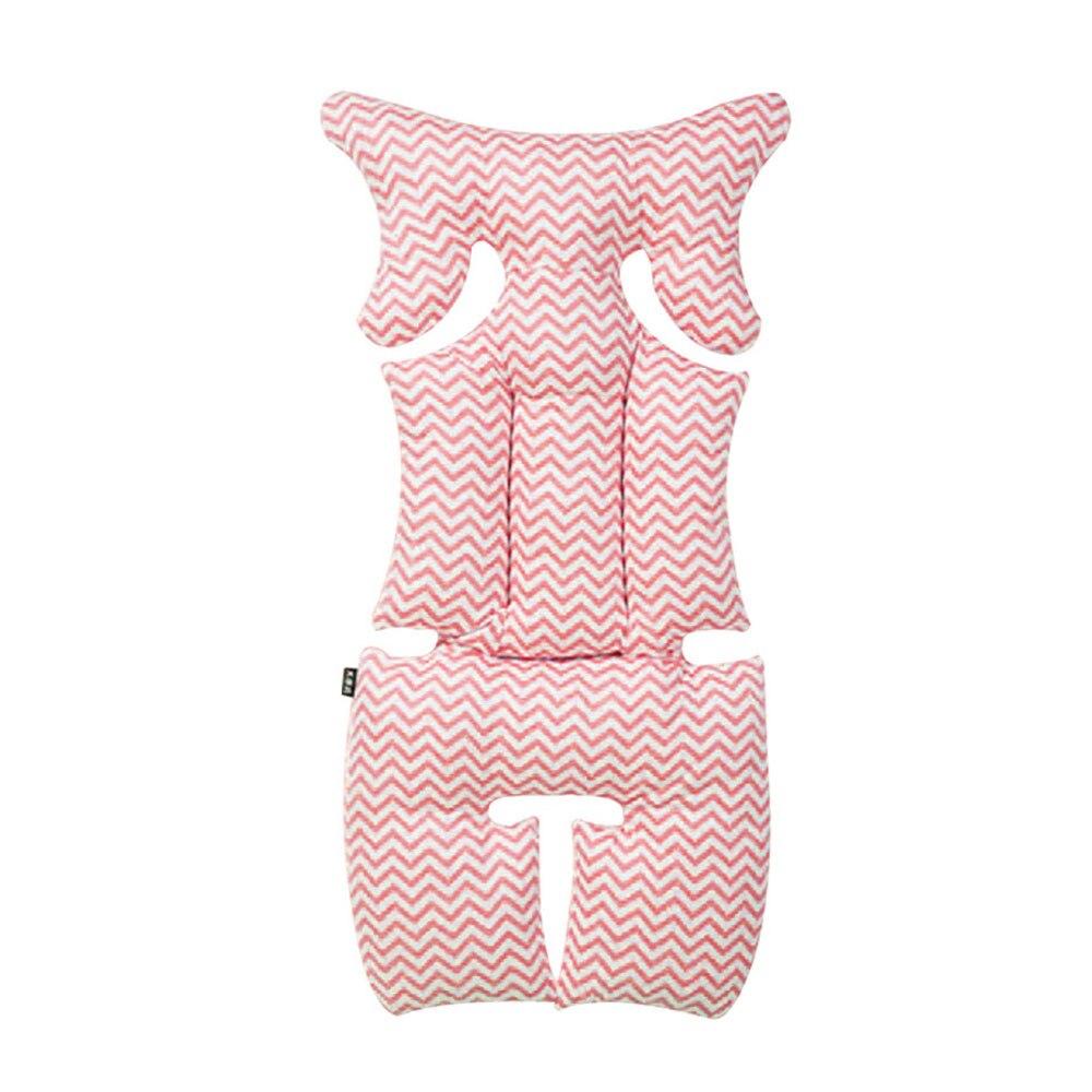 Vehemo синий розовый хлопок детское автокресло подушки Подушка безопасности Путешествия Прочный Крытый Поддержка подушка для детского сиденья - Название цвета: Розовый