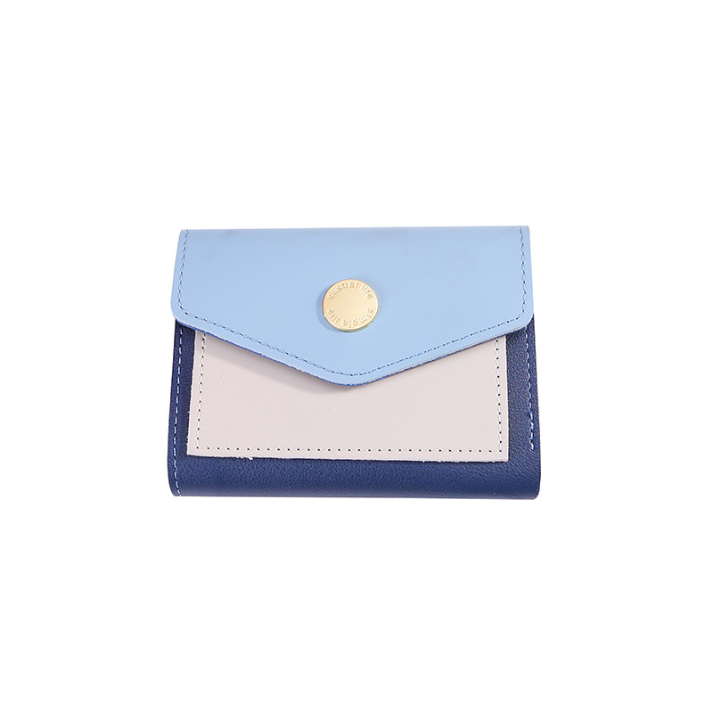 KANDRA Luxury Wallet Small Trifold Women Wallet PU Leather Hasp Short Purses Patchwork Coin Purse Business Card Holder Female(China)