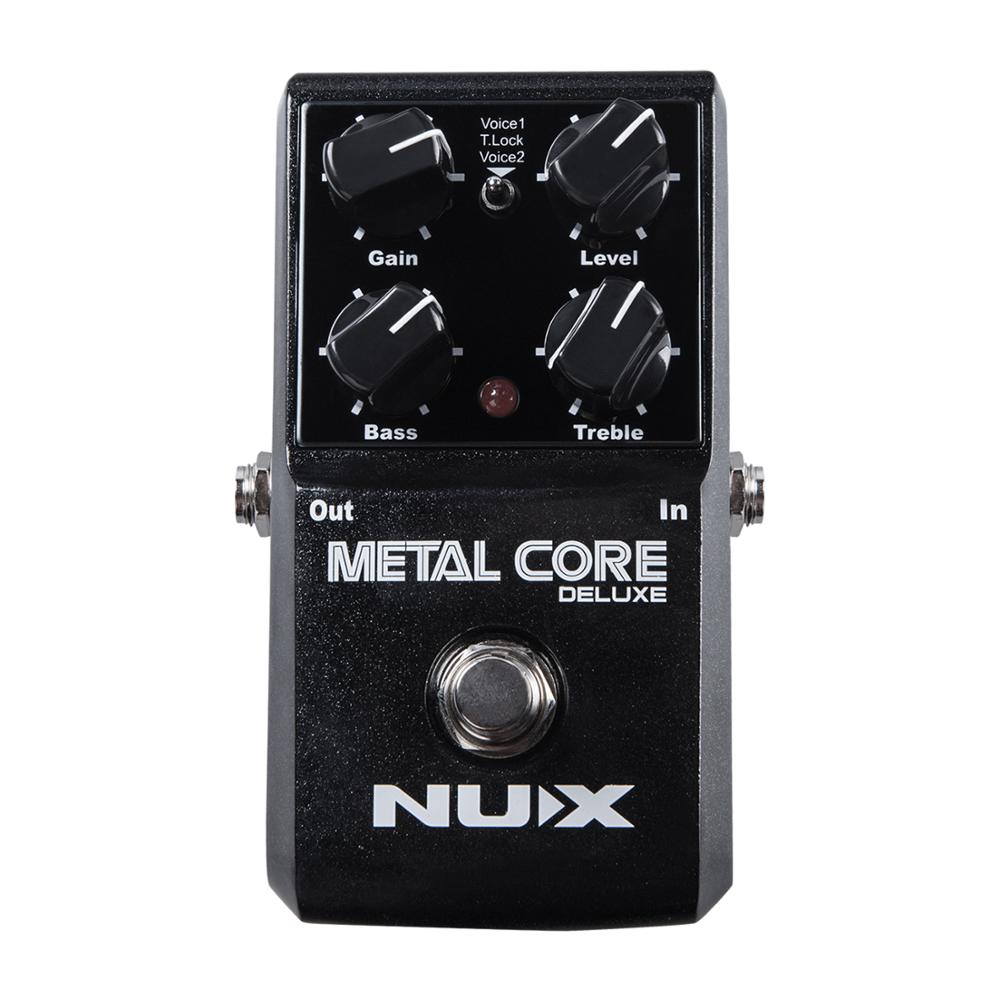 NUX Metal Core Deluxe Distortion Effect Pedal 2-Band EQ Tone Lock Preset Function Guitar Voice Effector Stompbox Noise Gate nux metal core distortion effect pedal true bypass guitar effects pedal built in 2 band eq tone lock preset function guitar part
