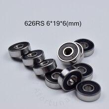 626RS bearing ABEC-5 bearings 10pcs rubber Sealed Mini Bearing 626 6*19*6mm chrome steel deep groove