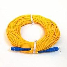 Оптоволоконный Соединительный шнур, в наличии, бесплатная доставка, соединительный кабель для оптоволокна SM SX 3 мм, 30 м, 9/125 м, 30 м, SC/PC