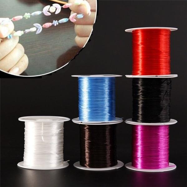 393 дюйма/рулон, крепкий эластичный шнур для бисероплетения с кристаллами, 1 мм, для браслетов, стрейчевая нить, ожерелье, сделай сам, для изготовления ювелирных изделий, шнуры, линия