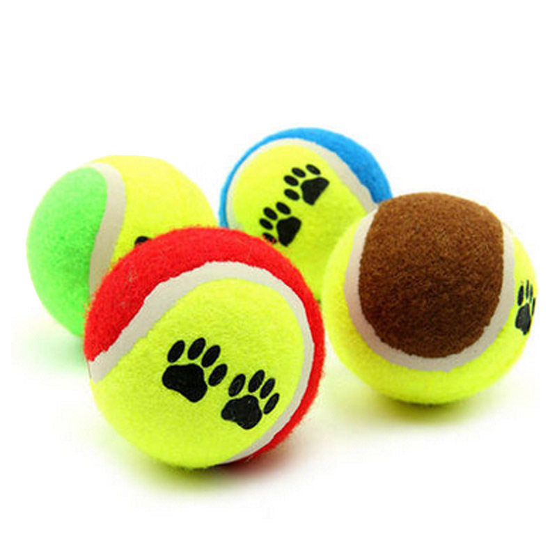 Pet Dog Puppy Cat Toys Tennis Ball Design Environmental Rubber 65mm Diameter Teeth Chew Ball Tooth Cleaning Balls
