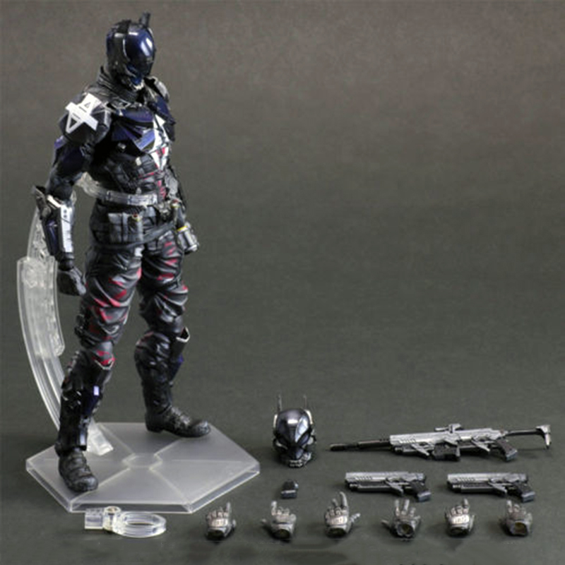 11Arts Kai Batman Arkham City Knight Variant PVC Action Figure Statue Model 27cm Toys for Collection playarts kai batman arkham knight batman blue limited ver superhero pvc action figure collectible model boy s favorite toy 28cm