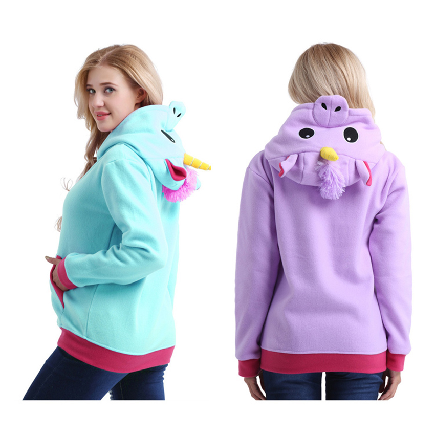 Unicorn Hoodie Coat Anime Cospaly Costumes Adult Animal Hooded Pegasus Hooide Sweatshirt