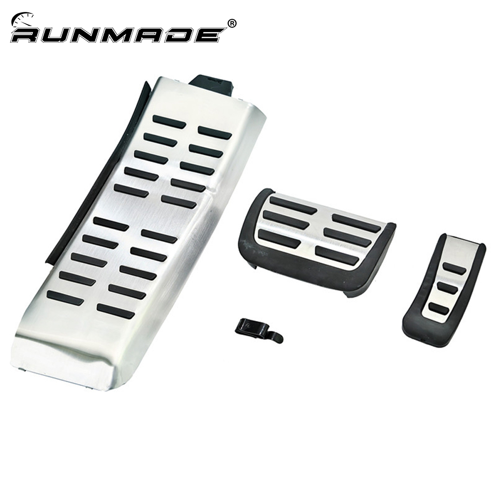 runmade Sport Fuel Gas Brake Footrest Pedal Cover Case For Audi A6 (4F) C6 S6 2009-2012 - AT radiator cooling fan relay control module for audi a6 c6 s6 4f0959501g 4f0959501c