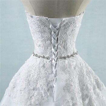 ZJ9032 lace flower Sweetheart White Ivory Fashion Sexy 2019 Wedding Dresses for brides plus size maxi size 2-26W 6