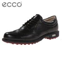 Оригинальный классический бренд Ecco мужские повседневные туфли водонепроницаемые из натуральной коровьей кожи крепежный гвоздь кожаные кр
