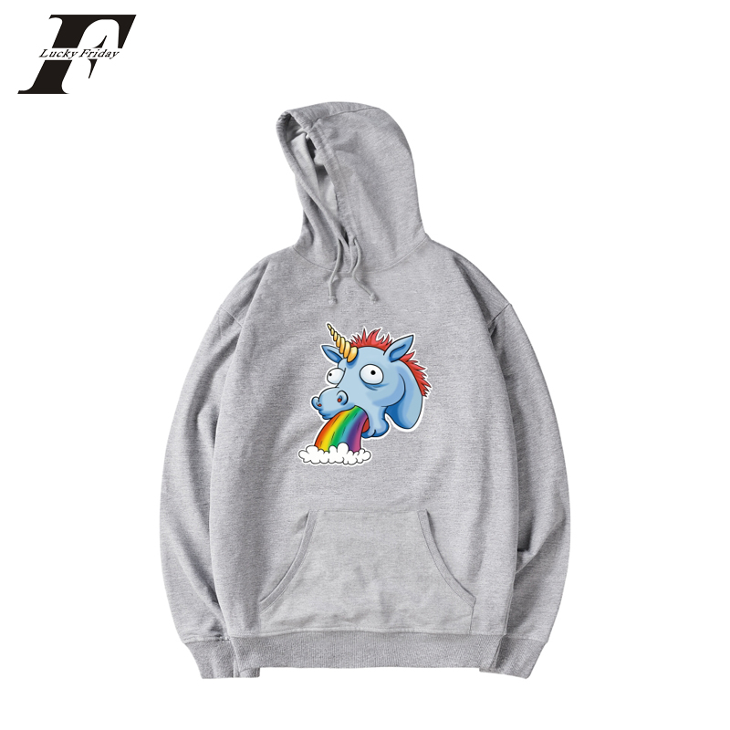 Luckyfridayf 2018 Unicorn Harajuku Print Funnt Hoodies Women/men Sweatshirts Autumn Streetwear Cap Anime Hoodies Casual Hoodies Easy To Use Women's Clothing