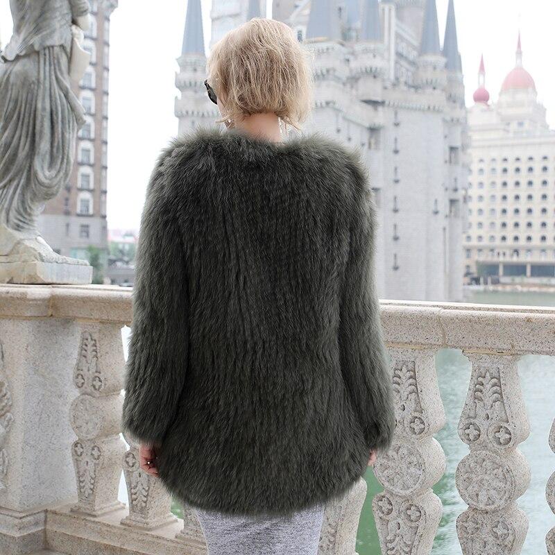 Luxury Women\'s Coat Jackets Real Fox Fur Jackets For Girls Natural Fox Fur Outerwear Female Winter Coats Warm (9)