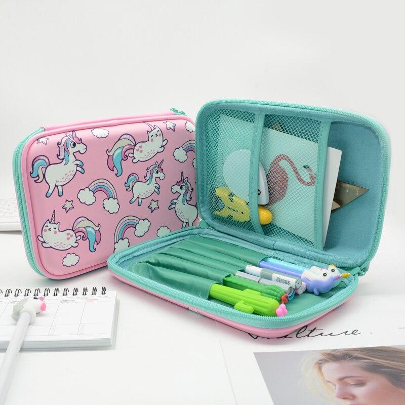 Pencil Case Estuche Escolar Kalem Kutusu Etui EVA Pencilcase Large Box Cartoon School Lapices Kawaii Cake Unicorn Pen Boys Girls все цены