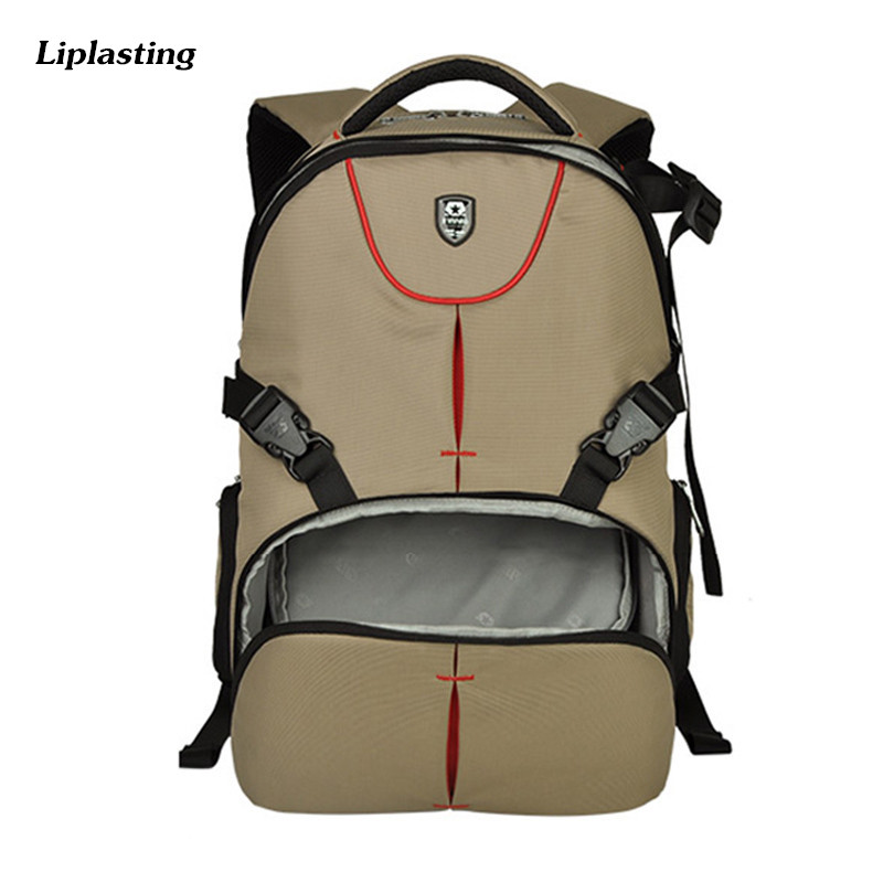 Wear Resistant Waterproof DSLR SLR Camera Backpack Fashion Casual Travel Camera Video Bag For Canon Nikon Sony ozuko brand dslr camera bag fashion chest pack slr camera video photo digital single shoulder bag waterproof school travel bags