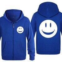 Mens Hoodie Acid Smiley Face Printed Zipper Hoodies Men Fleece Long Sleeve Jacket Coat Skate Tracksuit Sweatshirt Men's Clothing