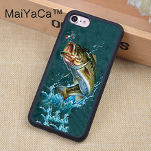 MaiYaCa fishing Printed Soft TPU Protective Shell Skin Phone Case For iPhone 6 6S Plus 7 7 Plus 5 5S 5C SE 4 4S Cases Back Cover