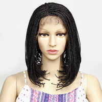 YXCHERISHAIR African American Lace Front Wig Natural Black With Baby Hair For Black Women Crochet Box