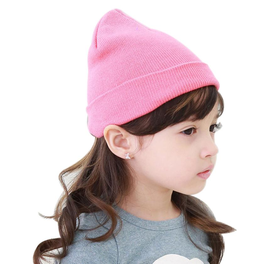Skullies & Beanies Baby Beanie Boy Girls Soft Hat Children Winter Warm Kids Knitted Cap Levert Dropship 302 Hot Dropship [swgool] skullies
