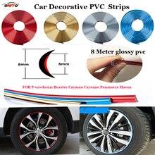 Для porsche 911 Boxster Cayman Cayenne Panamera Macan декоративные ленты Авто колеса отделкой в полоску кузова боковые Рейн украшения полоса