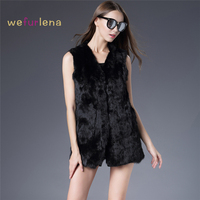 Winter Autumn Rabbit Fur Vest Fashion Real Fur Coats For Women Brand Sale Female Natural Fur