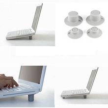 2 шт удобный мини большой+ 2 шт маленький Ноутбук Охлаждающие подставки для ноутбука Нескользящая подставка охлаждающая подставка