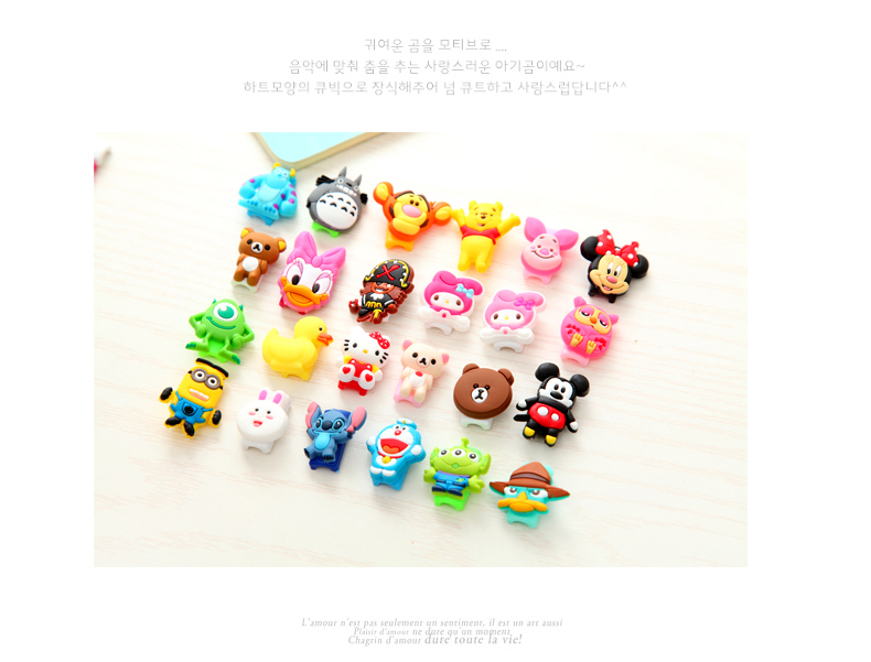 10Pcs Fashion Cute Cartoon USB font b Cable b font Protector Cover Case For Apple Iphone