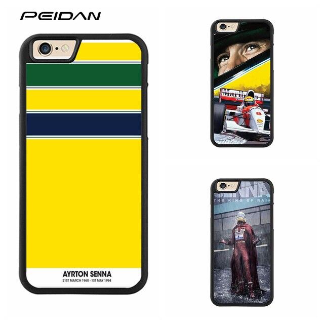 Ayrton Senna PEIDAN Completa capa Protetora caso de telefone celular para o iphone X 4 4S 5 5S 6 6 s 7 8 6 mais 6 s mais 7 mais 8 mais # ee42