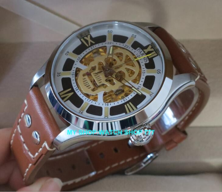 42MM PARNIS 21 jewels Japanese automatic Self-Wind Mechanical <font><b>watches</b></font> Sapphire Crystal men's <font><b>watch</b></font> <font><b>G10</b></font> image