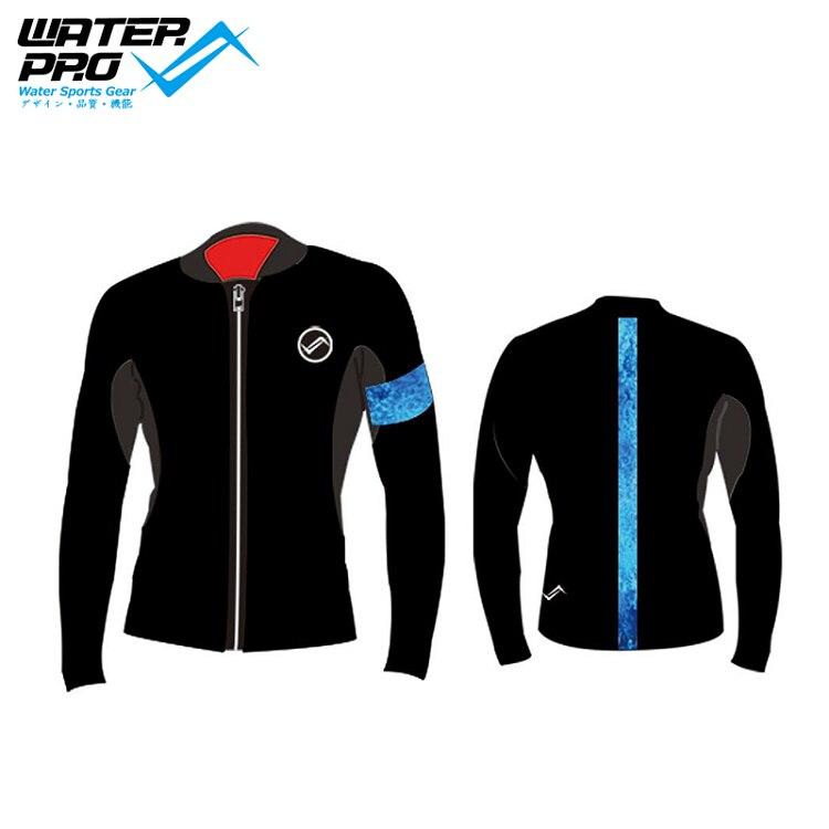 Water Pro Blue Wave 3mm jacket for Man ветровка quiksilver new wave jacket neon blue