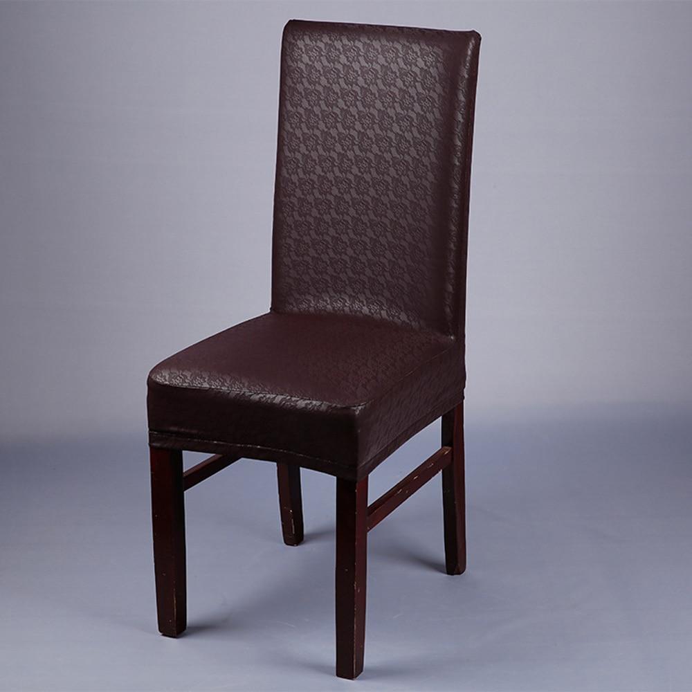 10 sztuk/partia dekoracji pokoju biurowego wino czerwone koronki wzór elastyczna fotel PU pokrywa hotelu domu Multi Color wodoodporna pokrowce na krzesła w Pokrowiec na krzesło od Dom i ogród na  Grupa 3