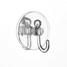 Plastic Removable Suction Cup Sucker Wall Window Bathroom Kitchen Hanger Hooks Brand New