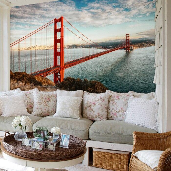 3d Photo Wallpaper San Francisco The Golden Gate Bridge Murals Bedroom Living Room Sofa Tv