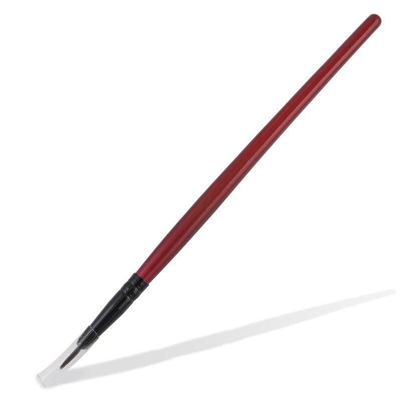 2 Pcs Professional Red Lasting Eye Liner Eyeliner Gel Eyeshadow Eyebrow Makeup Cosmetic Brushes Tools
