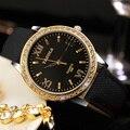 YAZOLE Золото Алмазы 2017 Дамы Наручные Часы Женщины Бренд Знаменитые Часы Кварцевые Часы Золотой Montre Роковой Relógio Feminino
