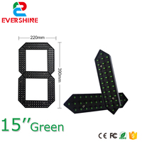"""Işıklar ve Aydınlatma'ten LED Modülleri'de 15 """"yeşil kırmızı ve beyaz renk dijital numaraları modülü LED dijital ekran 7 segment modülü  led numarası ekran"""