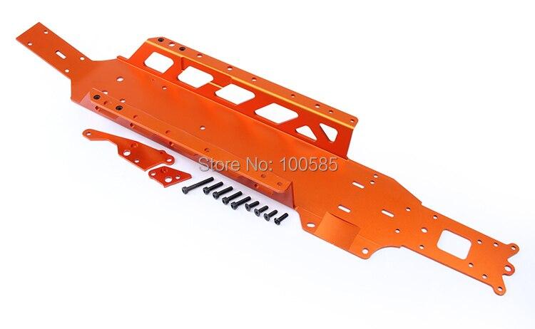 CNC 5 мм Baja большое шасси для 1/5 масштаб HPI KM RV Baja 5b 5 t-orange, серебро 85177