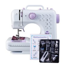 2019 Multifunction Mini Sewing Machine 505A 12 Stitches Replaceable + 11pc Presser Foot Power Supply LED Light Sewing classes(China)